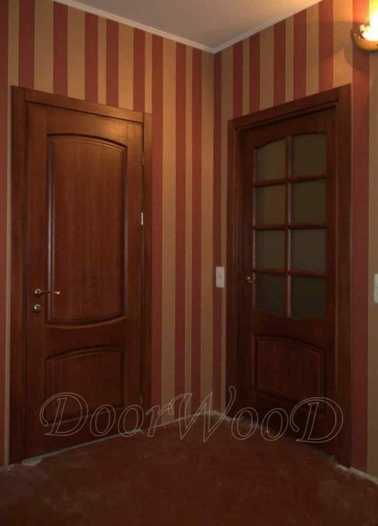 Дверь из ясеня под стекло