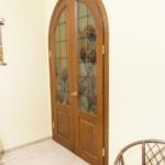 Арочная дверь из ясеня