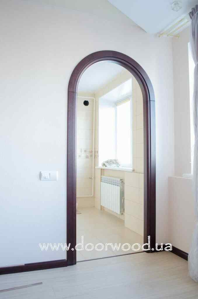 Arched aper, wooden arch, ash arch, doorwood kharkiv