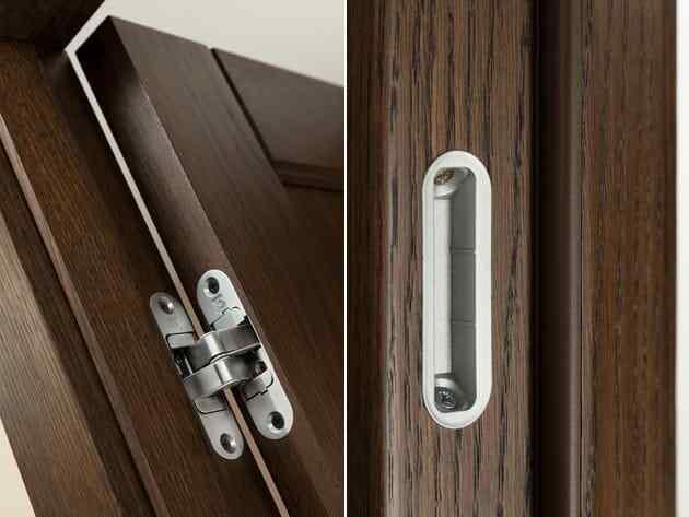 двери межкомнатные со скрытыми петлями из ясеня и дуба