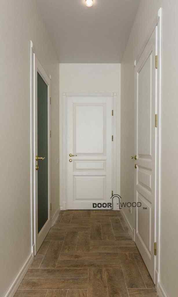 Классическая белая дверь doorwood из ясеня DoorWooD™, двери харьков, филенчатая дверь, двери из массива, Old Town