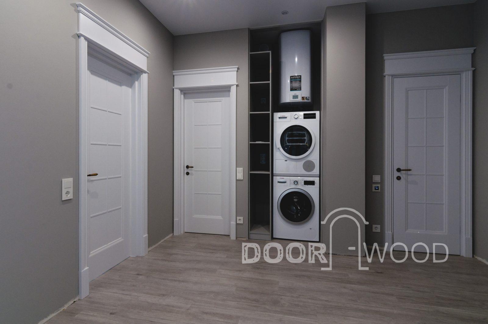 межкомнатные двери белые глянцевые doorwood