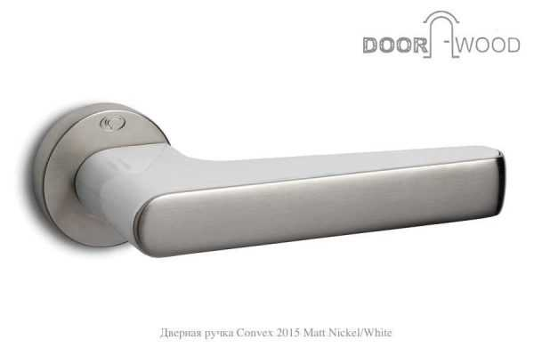 Дверная ручка Convex 2015 матов никель белый