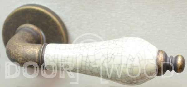 dnd дверная ручка фарфор бронза фото