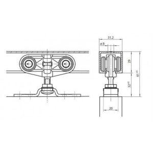 Раздвижные системы GEZE ROLLAN 80