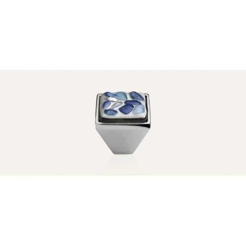 Brera Stone ручка-кнопка мебельная (хром полированный)