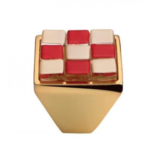 Brera Chess ручка-кнопка мебельная (золото)