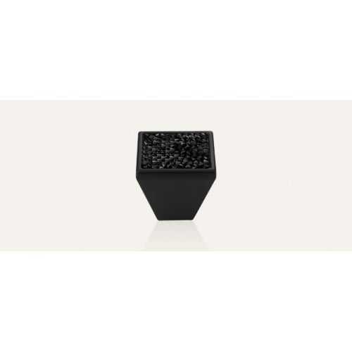 Rocks ручка-кнопка мебельная матовый черный