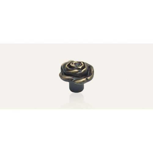 Rose ручка-кнопка мебельная бронза матовая