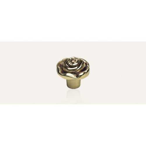 Rose ручка-кнопка мебельная французское золото