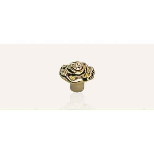 Rose ручка-кнопка мебельная золото