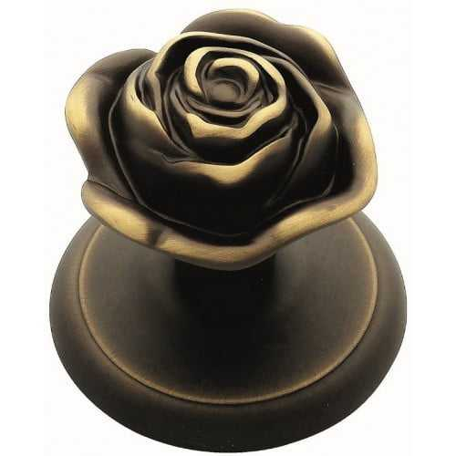 Rose ручка-ноб (бронза матовая)