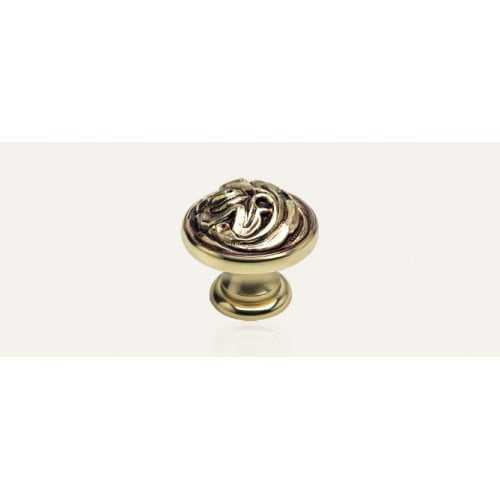 Vintage ручка-кнопка мебельная французское золото