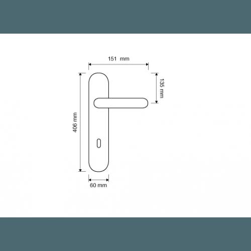 Ninfa Porcellana ручка на планке (патина)