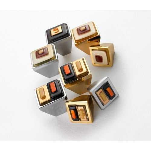Brera Square ручка-кнопка мебельная (золото)