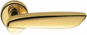 Дверная ручка Colombo Design Daytona PF11 полированная латунь с накладками под прорезь