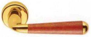Дверная ручка Colombo Design Tempo CD 61 золото с накладками под ключ