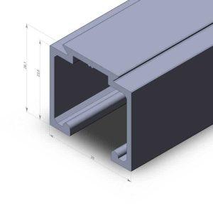 Алюминиевый профиль 5333 (TL-28.26) L-1,8м неанодированный