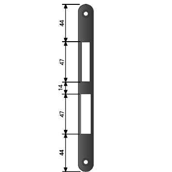 AGB Art. B010000302 Ответная планка к замку бронза кос без отб 1