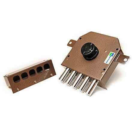 Mottura Art. 30621VD50C5 Замок накладной 5-риг с нажимным цилиндром, с ручкой изнутри 1