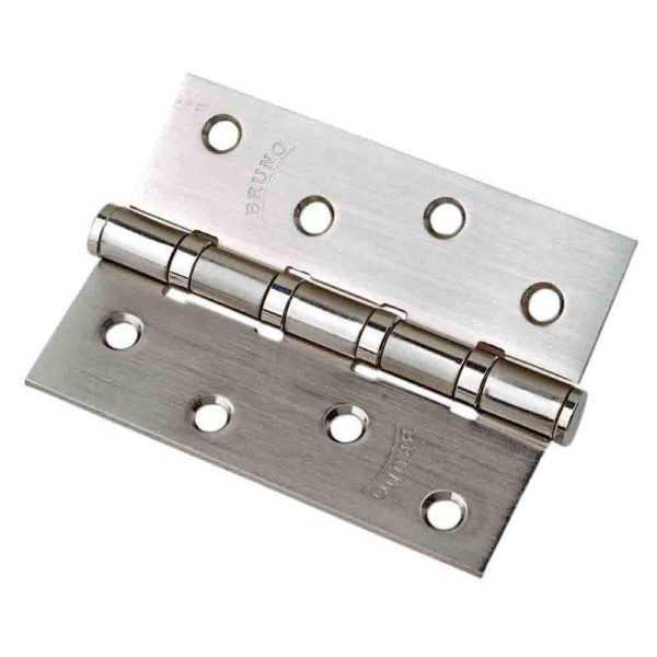 BRUNO Петля 100*2,5 (4 подш, сталь) мат. никель 1