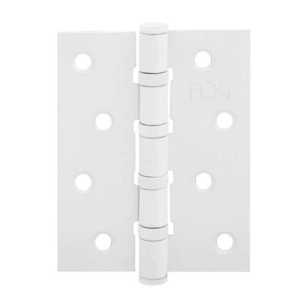 Петля RDA 100*3*2,5 (4 подш, сталь)  белый матовый 1