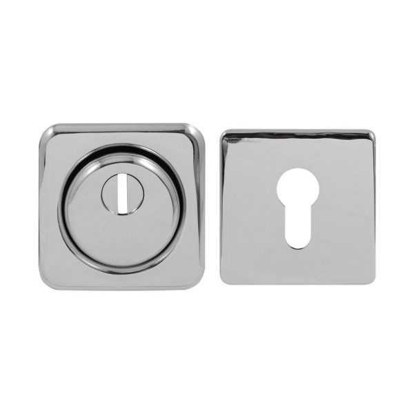 Броненакладка Protect 18mm c кольцом квадратная CP хром 1