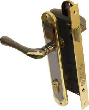 Pучка на планке 910K6 85мм черный никель/золото 945-3RB BRB англ. 70мм 5 кл латунь