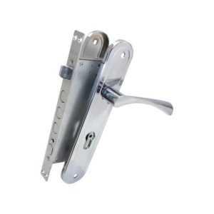 Комплект BRUNO BR-80 (ручка на планке + механизм) хром правый