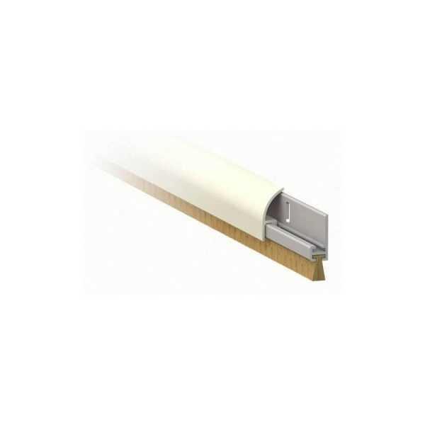 1255 Порог алюм накладной со щеткой 100 см белый блистер 1