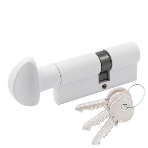Цилиндр Cortellezzi Primo 117F 30x30 ключ/поворот. белый 1