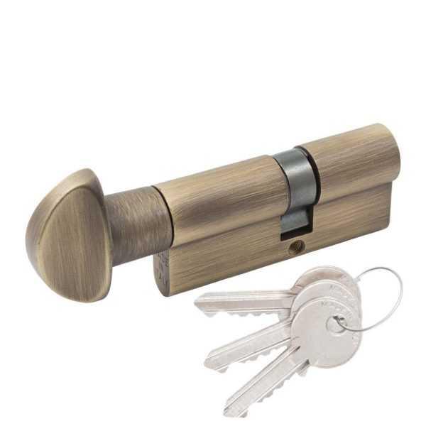 Цилиндр Cortellezzi Primo 117F 30x40 ключ/поворот. ант бронза 1