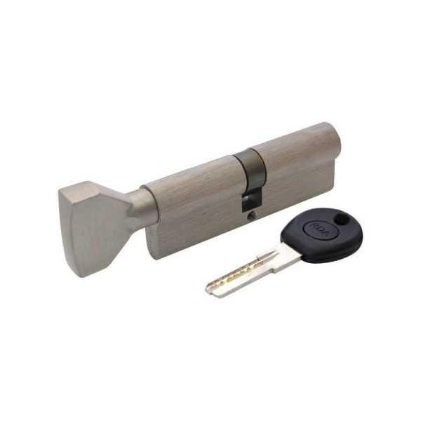 Цилиндр RDA 45/45мм лаз. 90мм 5кл пл/повор мат. никель 1