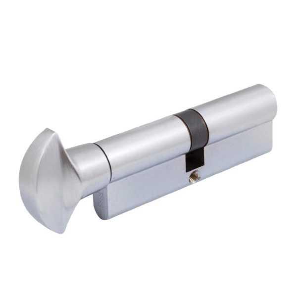Цилиндр Securemme 3100PCS45451X5 К1 45/45 мм 5кл поворот. мат.хром + монтажный ключ 1