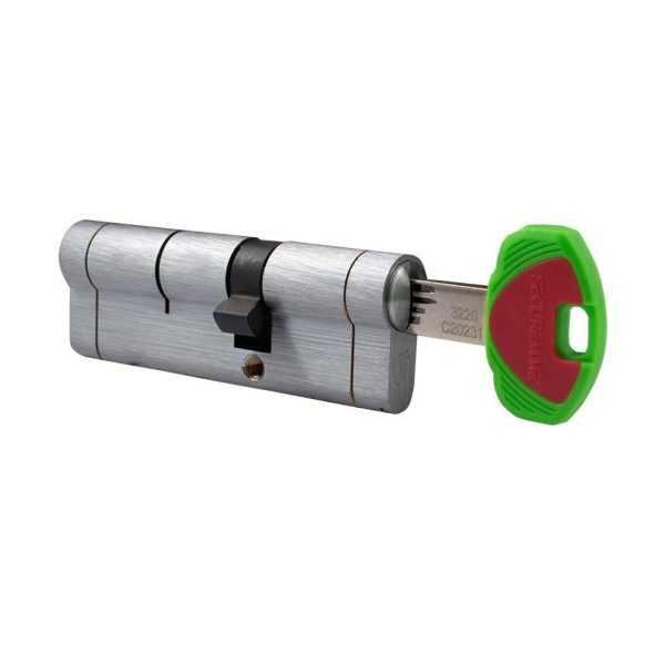 Цилиндр Securemme 3220CCS35551X5 К22 35/55 мм 5кл +1 монтажный ключ мат.хром 1