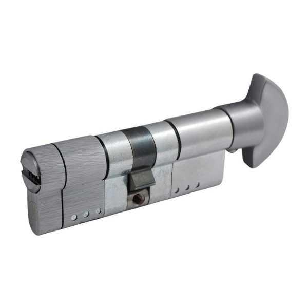 Цилиндр Securemme 3220PCS40401X5 К22 40/40 мм 5кл +1 монтажный ключ/ручка мат.хром 1
