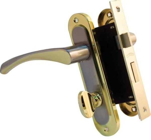 Ручка на планке Bravo 162 WC мат никель/золото + мех 1251 BRB WC мат.латунь вж 1