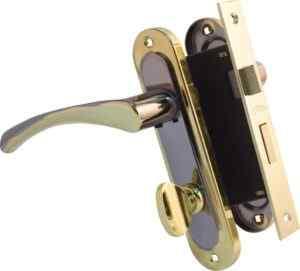 Ручка на планке Bravo 162 WC черн никель/золото + мех 1251 BRB WC мат.латунь вж