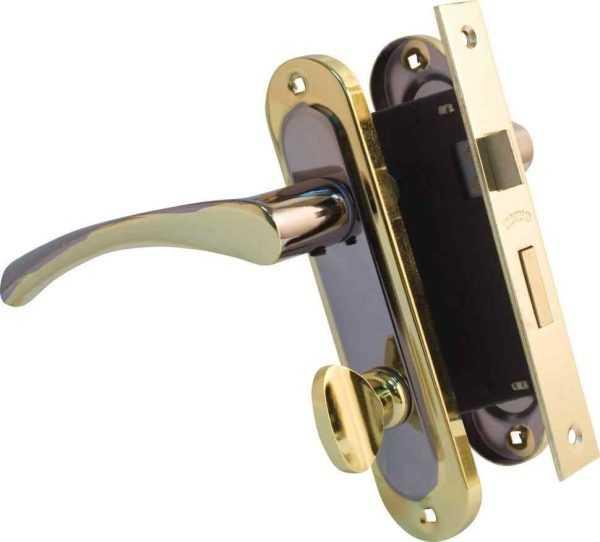 Ручка на планке Bravo 162 WC черн никель/золото + мех 1251 BRB WC мат.латунь вж 1