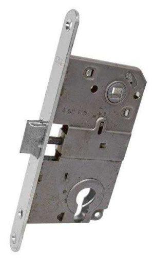 AGB Art. B010405034 Механизм для межкомнатных дверей Mediana мат.хром 90мм