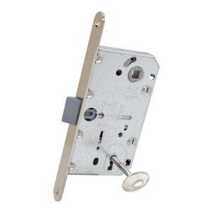 AGB Art. B011015006 Механизм для межкомнатных дверей Mediana Evolution Patent с ключом никель     90мм