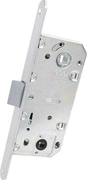 AGB Art. B011023534 Механизм для межкомнатных дверей Mediana Evolution узкий мат хром 96мм