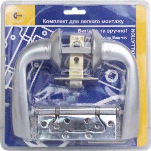 Комплект Comit Kea  6-45 хром/матовый хром + 2 петли блистер