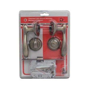 Комплект для межкомнатной двери RDA Imola WC 257 матовая античная латунь (в блистере)