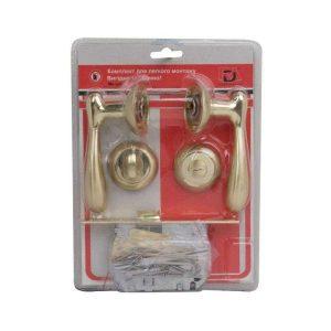 Комплект для межкомнатной двери RDA Imola WC 257 полированная латунь/матовая латунь (в блистере)