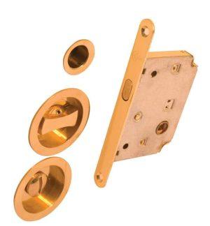 Комплект для раздвижных дверей RDA 4120 ВР полированная латунь