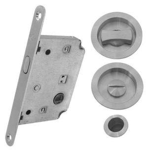 Комплект для раздвижных дверей RDA 4120 SC матовый хром