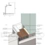 Алюмінієва коробка приховані двері внутрішнього відкривання