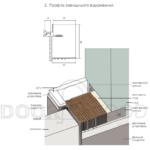 Алюминевая коробка скрытые двери внешнего открывания