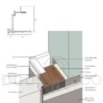 Алюминевая коробка скрытые двери внутреннего открывания